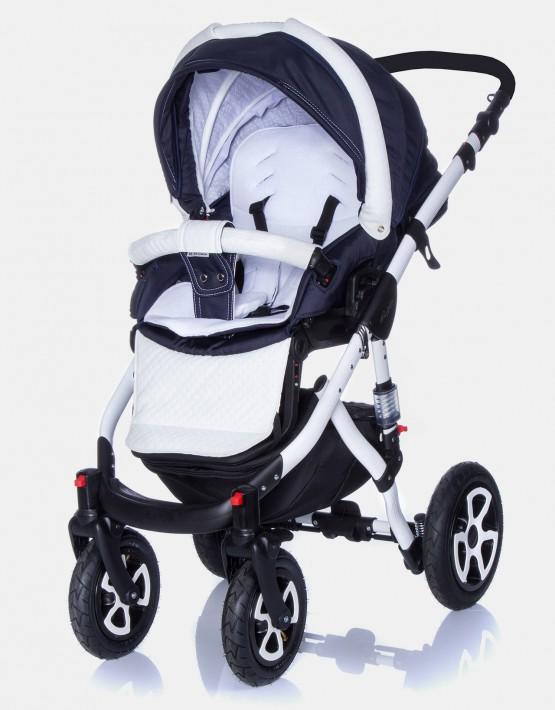 Adamex Barletta dunkelblau–weiß 710S 3in1 mit Autositz