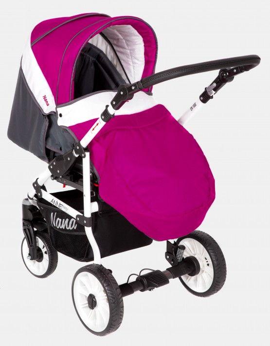 Nana Anne pink - graphit - weiß 2in1