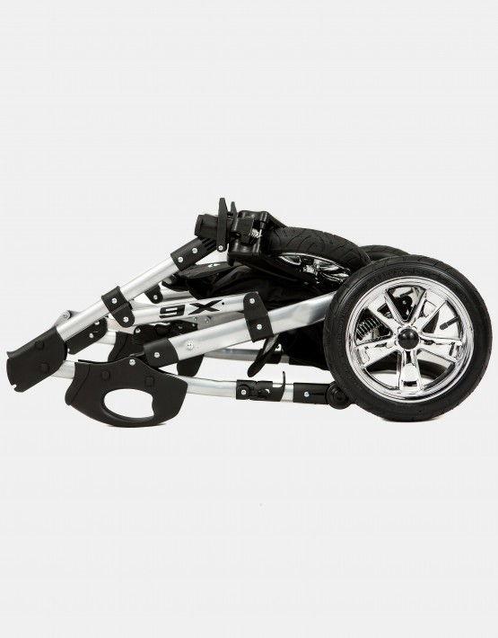 Zagma X6 schwarz - weiß 3in1mit Autositz