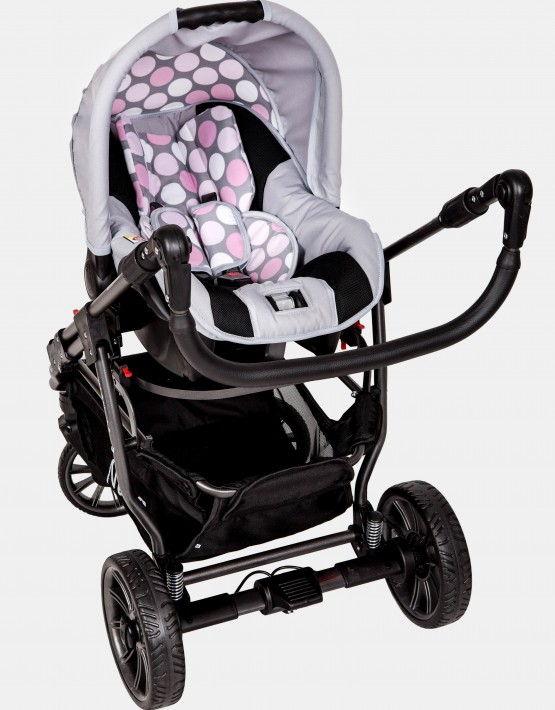 Nana Sportive rosa - grau 3in1 mit Autositz