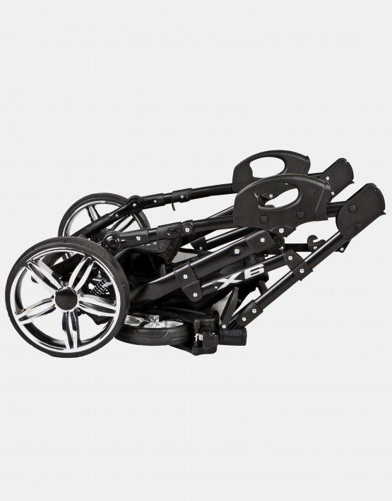 Zagma X6 türkis - schwarz 3in1 mit Autositz