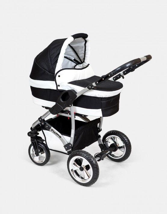 Karex Twing schwarz - weiß 3in1 mit Autositz