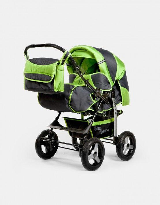 Karex Kamil schwarz - grau - grün 3in1 mit Autositz
