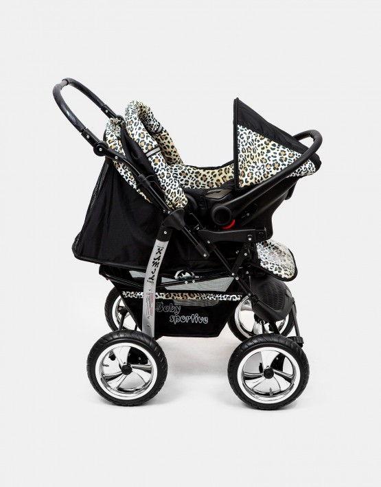 Karex Kamil schwarz - leopard 3in1 mit Autositz