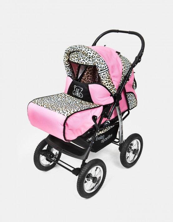 Karex Kamil rosa - leopard 3in1 mit Autositz