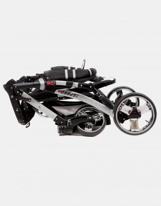 FunBaby Speed schwarz - weiß 3in1 mit Autositz