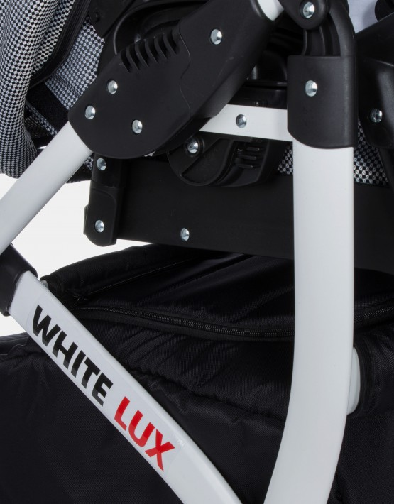 Raf-Pol White Lux Schwarz Pepita 3in1