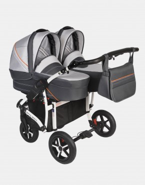 Dorjan Danny Sport Twin 3IN1 Weiß-Graphit DS5-T17