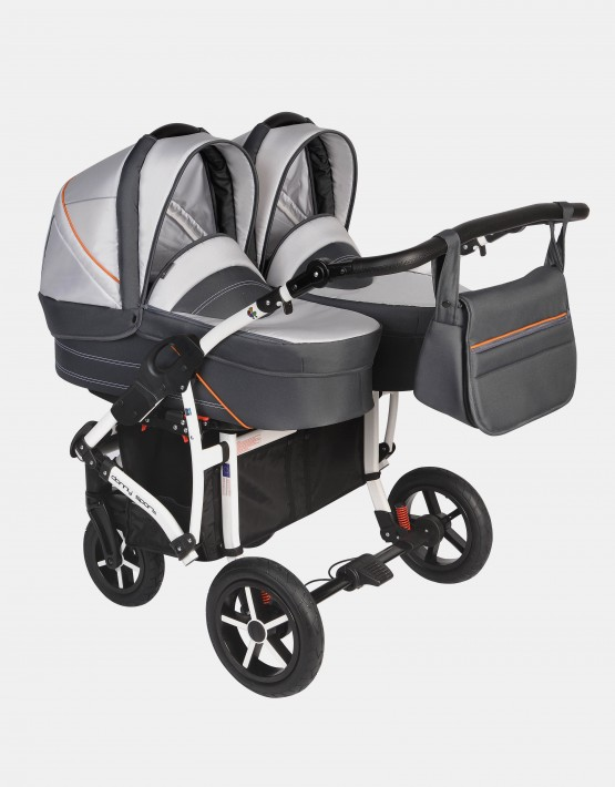 Dorjan Danny Sport Twin 3IN1 Weiß-Graphit DS5T-17