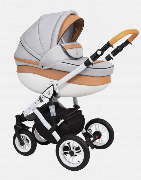 Baby Merc Faster Style2 3in1 FII-19 Hellgrau - Ekoleder Bronze