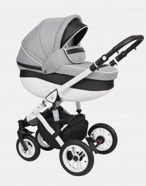 Baby Merc Faster Style2 3in1 FII-3 Pepitamuster - Ekoleder Schwarz