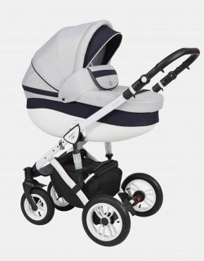 Baby Merc Faster Style2 3in1 FII-4 Hellgrau (Raute) - Dunkelblau (gesteppt)