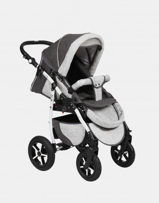 Baby Merc Q9 2in1 Q9-46 Weiß - Grau - Dunkel Grau