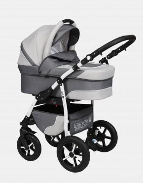 Baby Merc Q9 3in1 Q9-47 Graphit (Jeansmuster) - Weiß
