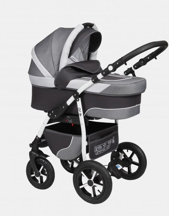 Baby Merc Q9 2in1 Q9-48 Graphit - Graphit (Jeansmuster) - Hellweiß