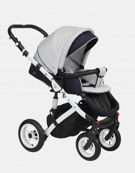 Baby Merc Faster Style2 2in1 FII-4 Hellgrau (Raute) - Dunkelblau (Gesteppt)