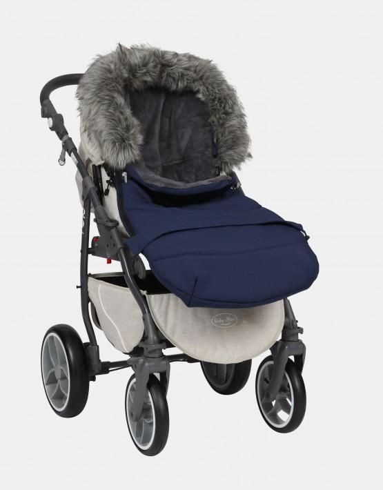 baby merc schlafsack winterfu sack blau ns 1. Black Bedroom Furniture Sets. Home Design Ideas