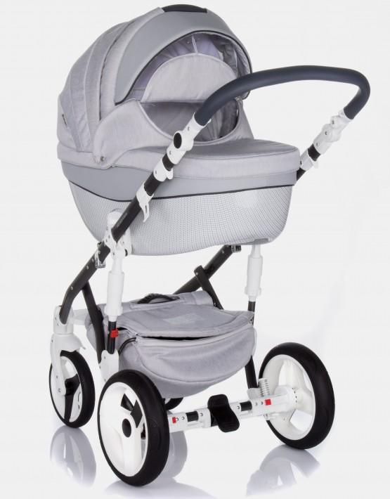 Adamex Monte Carbon Deluxe 3in1 D8 Grau mit grauem Leder