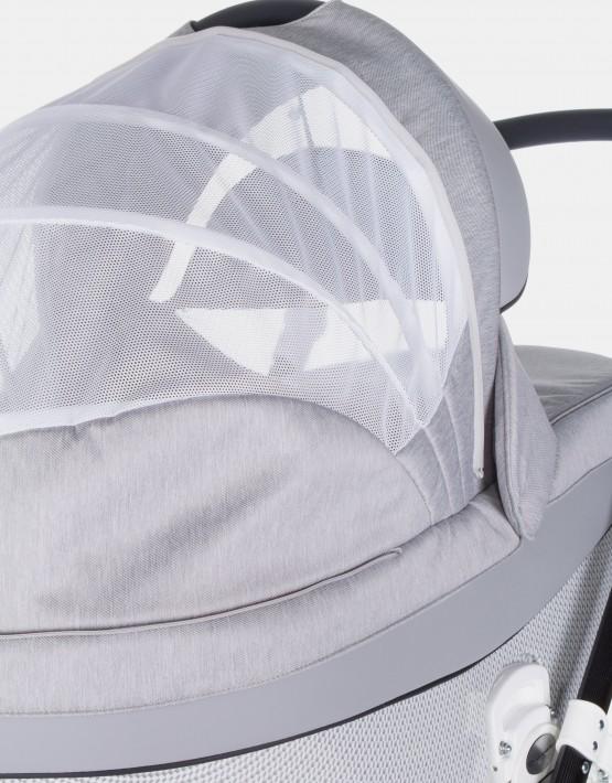 Adamex Monte Carbon Deluxe 2in1 D8 Grau mit grauem Leder