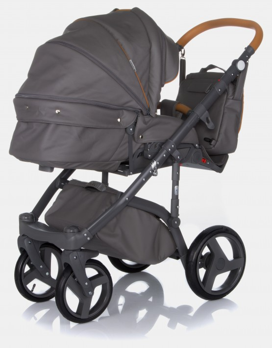 Adamex Massimo V202 Grey Leather 3in1