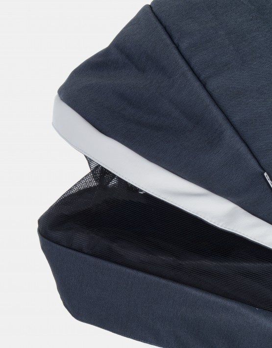 Adamex Monte Carbon Deluxe 2in1 D7 Dunkelblau mit weißem Leder