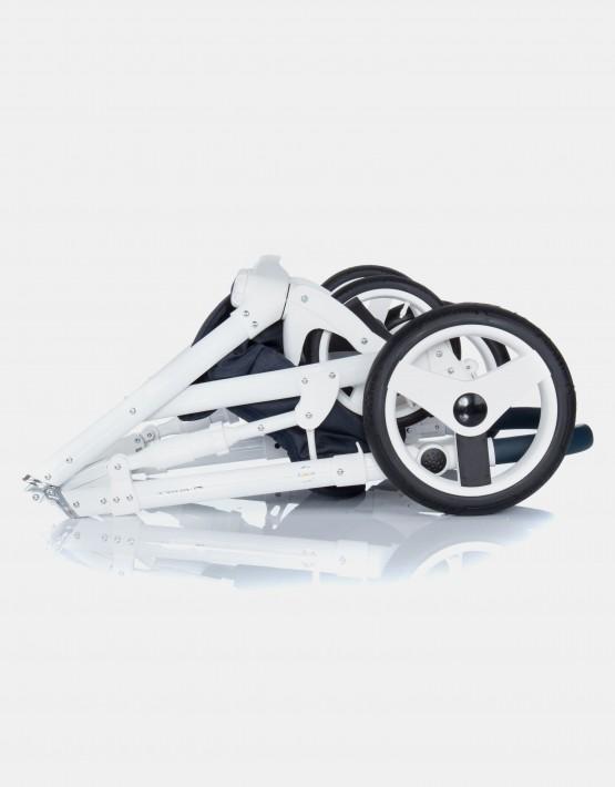 Adamex Monte Carbon Deluxe 3in1 D7 Dunkelblau mit weißem Leder
