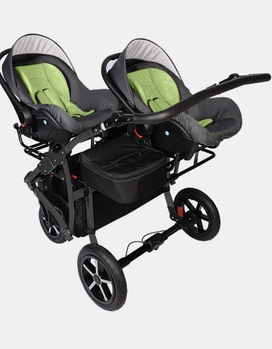 Dorjan Prestige Butterfly Twin 3IN1 Grau - Grün TBF/13 mit Autositzen
