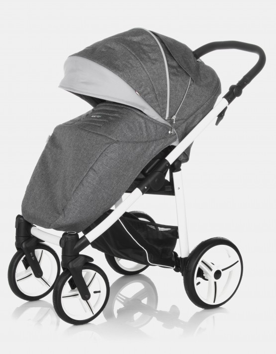 Bebetto Vulcano V03W Grey - Grey Weiß 3in1