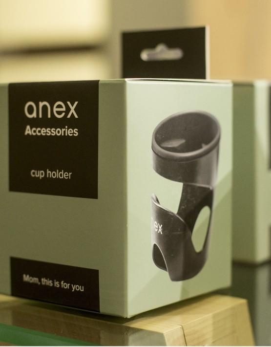 Anex Getränkehalter/Flaschenhalter für Kinderwagen