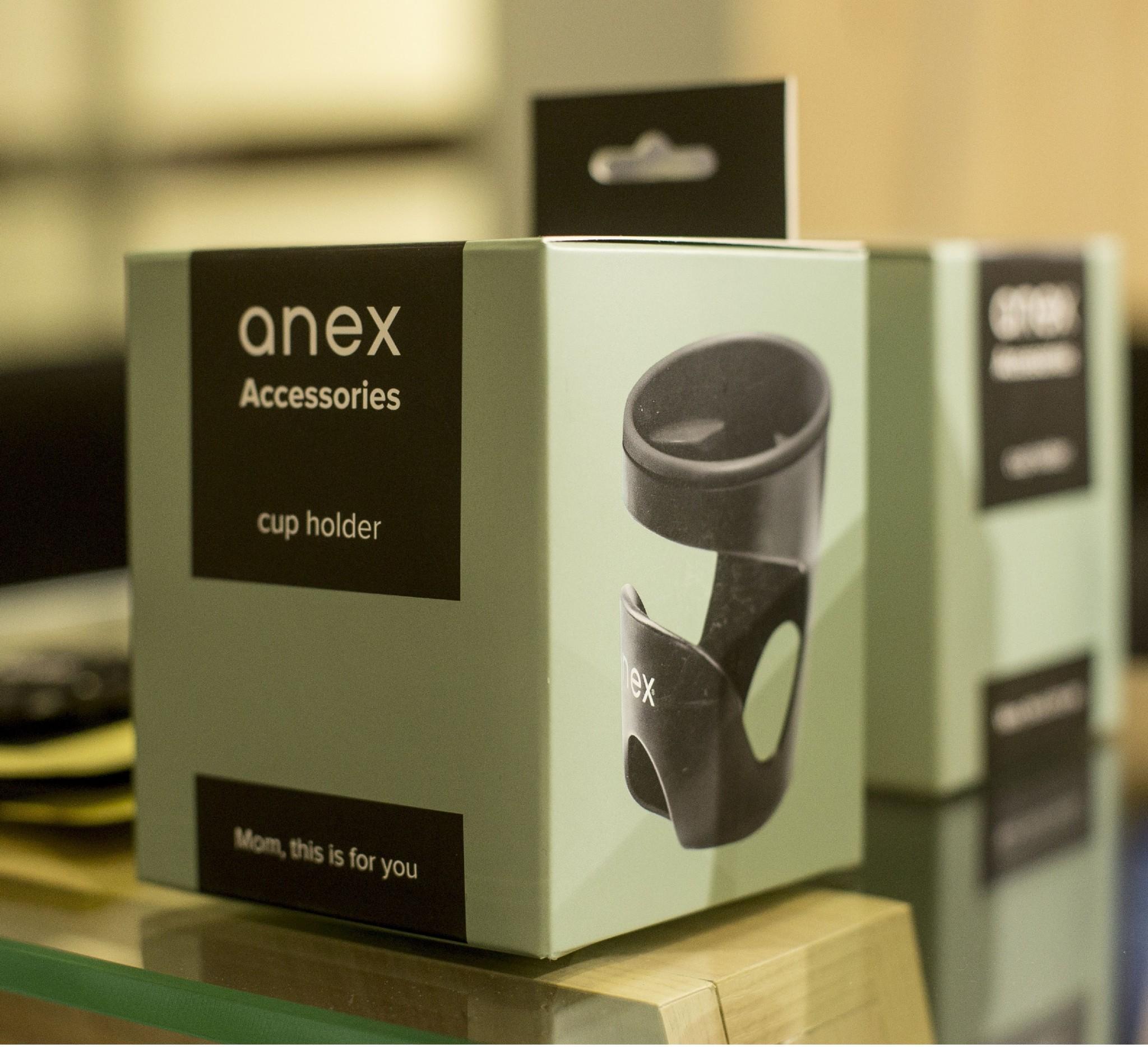 Anex Getränkehalter//Flaschenhalter für Kinderwagen Anex