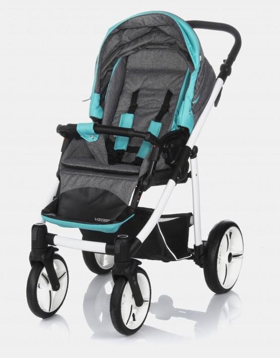 Bebetto Vulcano V02W Grau Blau 3in1