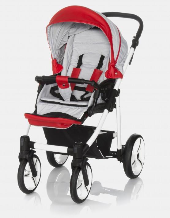 Bebetto Vulcano S-line SL03W Grey - Red 3in1