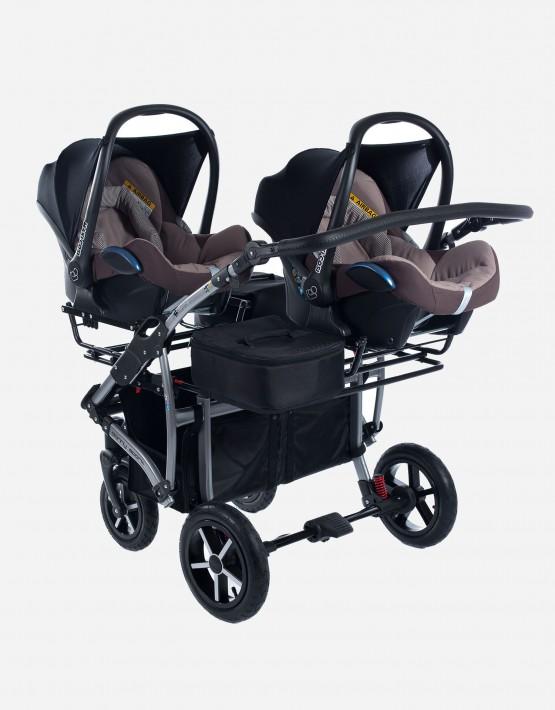 Adapter mit Köfferchen für Zwillingskinderwagen Dorjan Zekiwa Clamaro