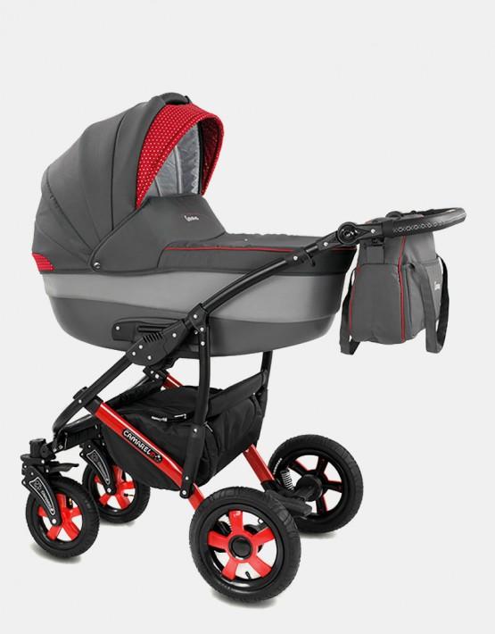 Camarelo Carera XCA-6 grau-rot 3in1 mit Autositz