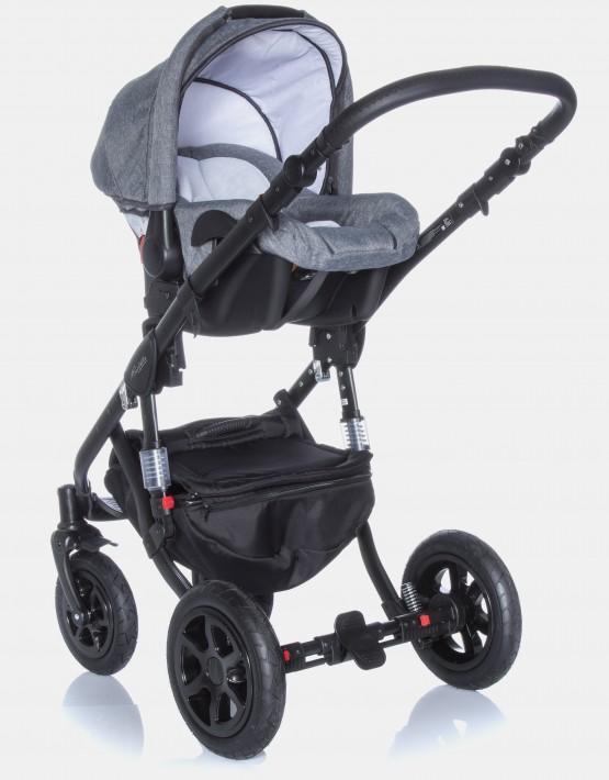 Adamex Barletta 839SC Anthrazit - Graues Leder 3in1 mit Autositz