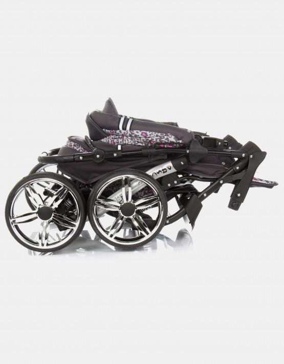 Karex Pascal 19 Dunkelgrau - Rosa - Leopard 3in1 mit Autositz