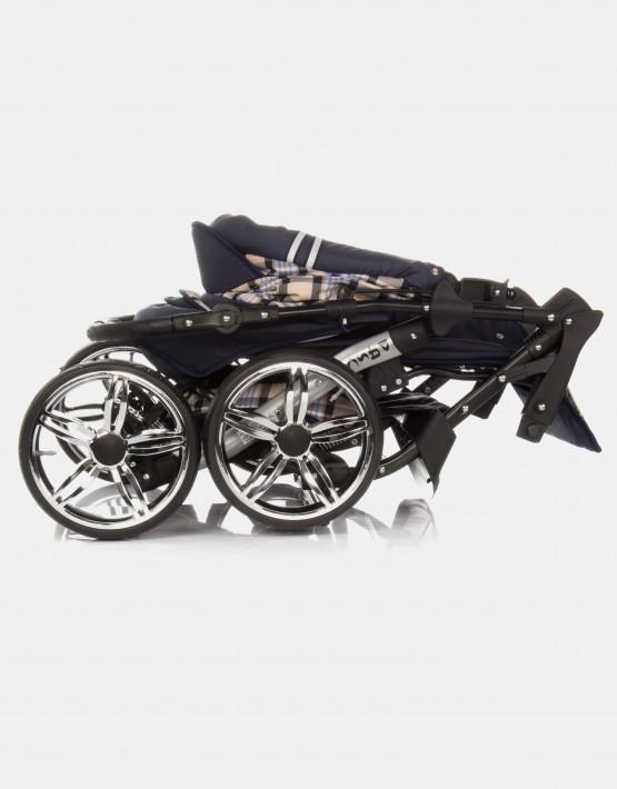 Karex Pascal 4 Dunkelblau - Kariert 3in1 mit Autositz