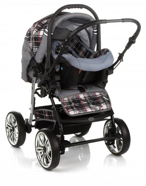 Karex Pascal 9 Silber - Kariert 3in1 mit Autositz