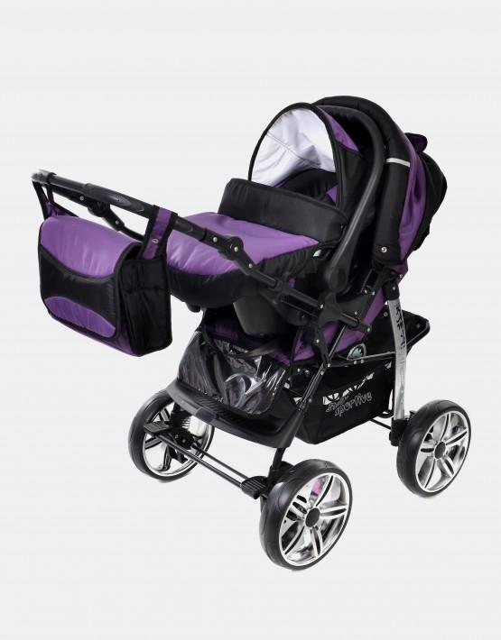 Karex Kamil  Schwarz - Violett  3in1 mit Autositz