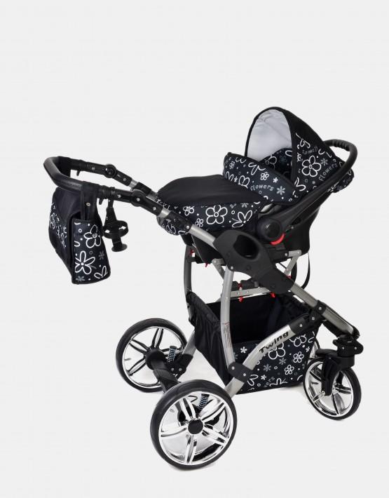 Karex Twing Schwarz-Flowers 3in1 mit Autositz