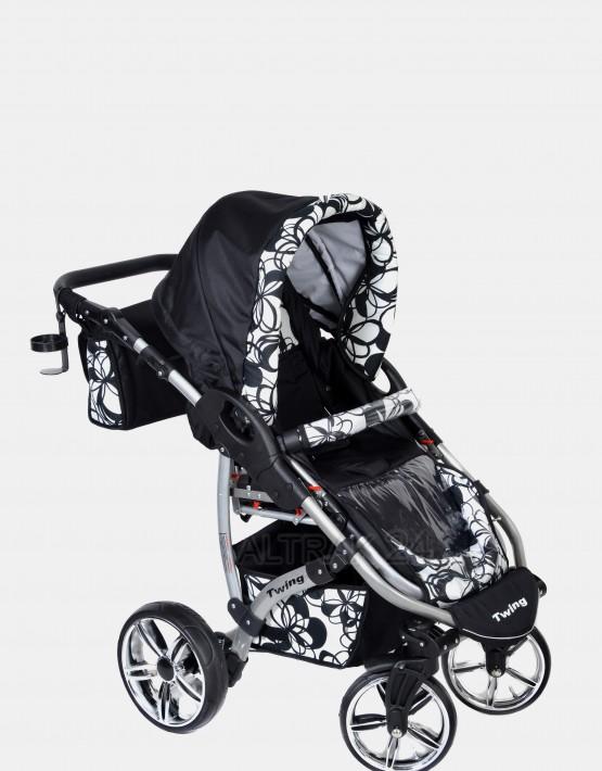 Karex Twing  Schwarz-Blumen 3in1 mit Autositz