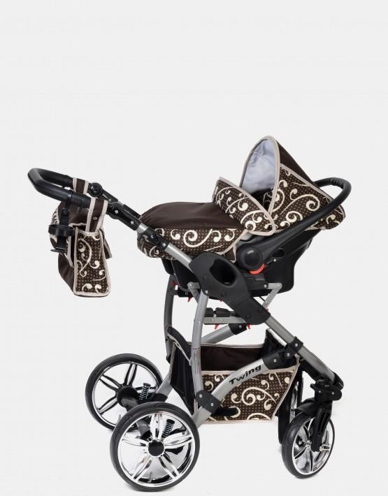 Karex Twing Braun-Muster 3in1 mit Autositz