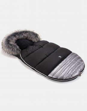 Cottonmoose Footmuff Moose Shine Shiny - Silver
