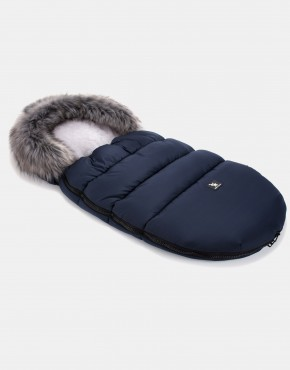Cottonmoose Footmuff Moose Dunkelblau - Grau