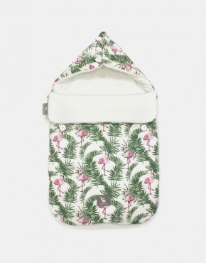 Cottonmoose 330 / 140 / 51 Pooh Schlafsack Natur Flamingo