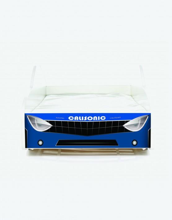 Auto-Kinderbett Nobiko mit Matratze und Lattenrost Blau 6 180x80cm