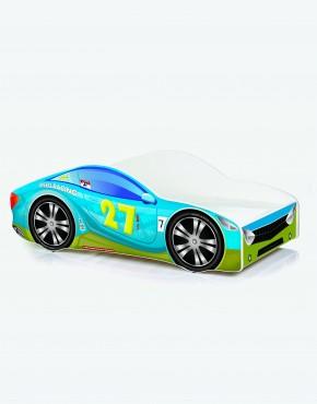 Auto-Kinderbett Nobiko mit Matratze und Lattenrost Oliv-Blau 8 180x80cm