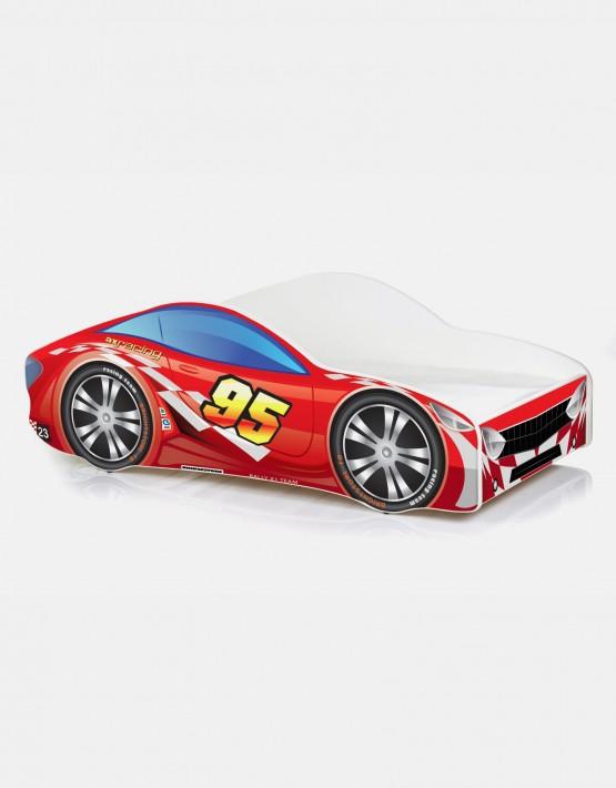 Auto-Kinderbett Nobiko mit Matratze und Lattenrost Rot 5 140x70cm