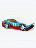 Auto-Kinderbett mit Matratze und Lattenrost Rot-Blau (2)