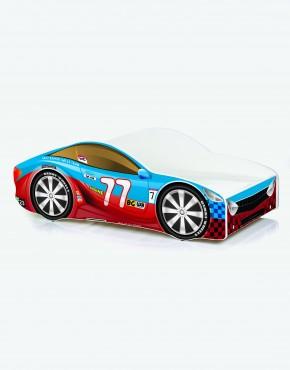 Auto-Kinderbett Nobiko mit Matratze und Lattenrost Rot-Blau 7 180x80cm